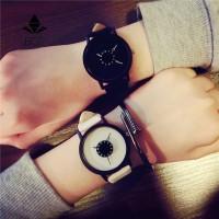 Designer Hot fashion creative watches women men quartz-watch brand unique dial design lovers' watch leather freeship 15 days