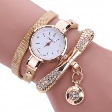 Bracelet Watches Fashion Casual Watch Relogio Leather Rhinestone Analog Quartz Watch Clock Female Montre Femme freeship 15 days