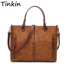 Vintage Women Shoulder Bag Female Tinkin Causal Totes High Quality Dames Handbag freeship 15 days