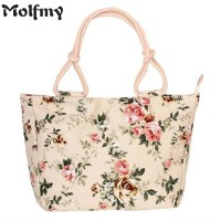 Folding Fashion  Women Big Size Handbag Tote Ladies Casual Flower Printing Canvas Graffiti Shoulder Bag Beach Bolsa Feminina freeship 15 days