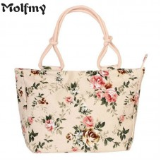 Folding Fashion  Women Big Size Handbag Tote Ladies Casual Flower Printing Canvas Graffiti Shoulder Bag Beach Bolsa Feminina freeship 15 days