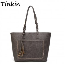 Tassel Vintage PU Women Shoulder Bag Female Retro Daily Causal Totes Lady Elegant Shopping Handbag freeship 15 days