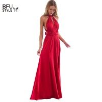 Wrap Sexy Women Multiway Convertible Boho Maxi Club Red Dress Bandage Long Dress Party Bridesmaids Infinity Robe Longue Femme freeship 15 days