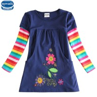girls flower frocks hot dresses children baby dresses long sleeve baby clothes dress freeship 14 days