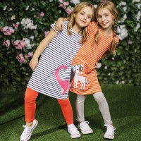 Baby Girls Dress Kids Clothes Princess Dress Animal Applique Children Unicorn Party Dresses freeship 14 days
