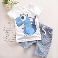 Brand Boys Clothing Cartoon Kids Boy Clothing Set T-shit+Pants Cotton freeship 14 days