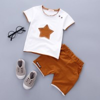2PCS Suit Baby Boy Clothes Children Toddler Boys set Cartoon New Fashion Cotton Cute Stars Sets freeship 14 days