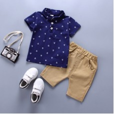 Clothing Sets boy Cotton casual children's wear Baby Boys T-shirt+ Shorts Pants 2 Pcs Sets freeship 14 days