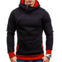 Oblique Zipper Hoodie Solid Color Men Fashion Tracksuit Male Sweatshirt  Purpose Tour freeship 14 dys