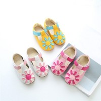 Girls Floral Non-Slip Sneaker Leather Pricness Casual Single Shoes For Girl Shoes freeship 14 days