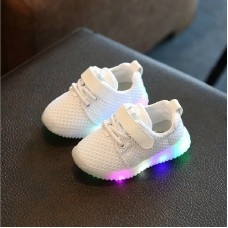 Flats Children Shoes With Light LED Kids Shoes Luminous Glowing Sneakers Baby Toddler Boys Girls freeship 14 days
