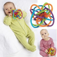 Baby Ball 0-12 Months Rattles Develop Baby Intelligence Toys Plastic Hand Bell freeship 14 days