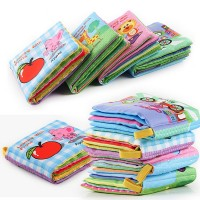 Baby Soft Animal Cloth 10 pages Book Newborn Stroller Hanging Toy Early Learning Toys freeship 14 days