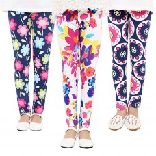 Baby Kids Childrens print Flower Toddler Classic Leggings girls pants Girls legging 2-14 Year freeship 14 days