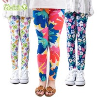 Leggings Kids Toddler Childrens Flower Classic Girl Skinny Children Trousers freeship 14 days