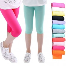 Girls Knee Length 3-10years Five Pants Candy Color Children Cropped Bottoms Leggings freeship 14 days