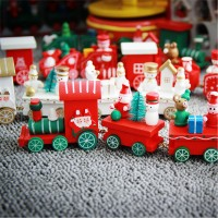 Christmas Train Decoration For Home Little Popular Wooden Train Decor freeship 14 days