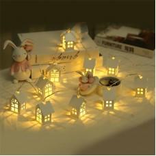 1.5M 10pcs LED Christmas Tree House Style Fairy Light Led wedding natal Garland New Year decorations freeship 14 days