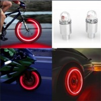 Bike Neon Blue Strobe LED Tire Valve Caps-2PC ciclismo lights Amazon best seller, freeship 14 days