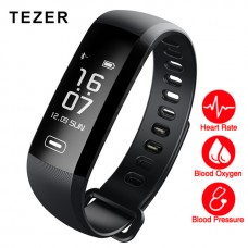 TEZER R5 max Original band 50 Letters Message push  heart rate  smart Fitness Bracelet Watch intelligent Pedometer