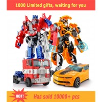 Top Sale 18.5cm New Arrival Big Classic Transformation Plastic Robot Cars Action Toy Figures Kids Education With Gifts Wholesale