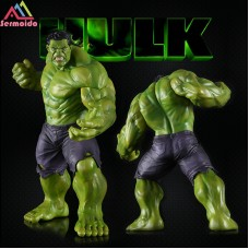 sermoido New 25cm Big Marvel Avengers Hulk Action Figure Collectable Model Muscle Man Superman Crazy Toy Top Grade Gift E20