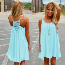 Chiffon voile Women  Girls beach dress fluorescence female summer dress sexy summer style free ship 12-15 days