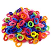Colorful Child Kids Hair Holders 100 Pcs Rubber Hair Band Elastics Accessories Girl Charms Tie Gum freeship 15 days