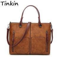 Vintage Women Shoulder Bag Female Tinkin Causal Totes High Quality Dames Handbag freeship 15 days