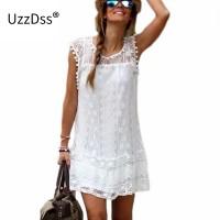 Mini Lace Dress Women Casual Short Dress Tassel Black White Sexy Party Dresses Vestidos freeship 15 days