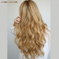 17 Colors Long Wavy High Temperature Fiber Synthetic Clip in Hair Extensions for Women freeship 15 days