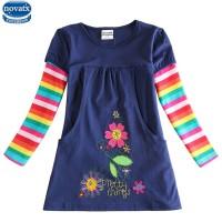girls flower frocks hot dresses children baby dresses long sleeve baby clothes dress freeship 14 days