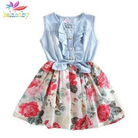 Baby Girl Dress Flower  Brand Princess Dress For Girl Child Clothes 2-9y freeship 14 days