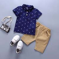 Clothing Sets boy Cotton casual children's wear Baby Boys T-shirt+ Shorts Pants 2 Pcs Sets freeship 14 days