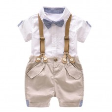 Toddler Boys Clothing Set Baby Suit Shorts Shirt 1-4 Year Children Kid Clothes Suits Formal freeship 14 days