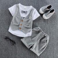 children handsome clothing kids T-shirt with vest+ pant 2Pcs/set boys fashion sets freeship 14 days