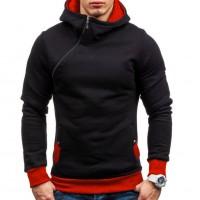 Oblique Zipper Hoodie Solid Color Men Fashion Tracksuit Male Sweatshirt  Purpose Tour freeship 14 dys