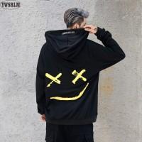Men Smile Hoodies Sweatshirts Print Headwear Hoodie Hip Hop Streetwear Clothing freeship 14 days