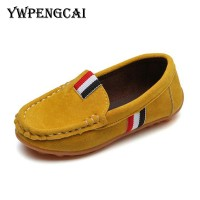 Kids Flock PU Leather Casual Shoes Boys Loafers All Sizes 21-36 Slip-on Soft Breathable Freeship 14 days