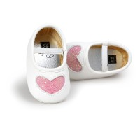 Shoes New Lovely PU Soft Bottom Baby Girl Princess Shoes 0-18M freeship 14 days