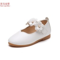 flower girls shoes new brand flat with leather baby elegant children kids toddlers free ship 14 days