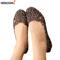 Women's Sandals Fashion Lady Girl Casual Jelly Shoes Sandals Hollow Out Mesh Flats Freeship 14 days
