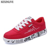 Fashion Vulcanized Women Shoes Sneakers Ladies Shoes Breathable Canvas Graffiti Flat freeship 14 days