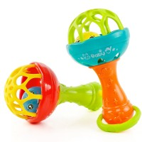 Baby Rattles toy fun Grasping Gums Plastic Hand Bell Rattle Funny Toys freeship 14 days