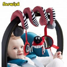 Cute Infant Babyplay Baby Toys Activity Spiral Bed & Stroller Hanging Bell Crib Rattle Toys freeship 14 days