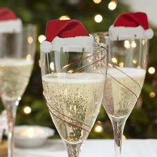 Nice Christmas Decorations For Home 10pcs Table Place Cards Christmas Santa Hat Wine Glass freeship 14 days