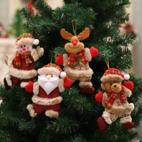 Merry christmas ornaments Gift Santa Claus Snowman Tree Toy Doll Hang Decorations freeship 14 days