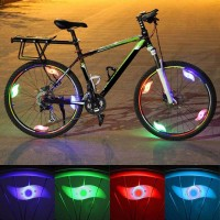 Hot Bicycle Spokes Lamp Cycling LED Wheel Wire Lights Waterproof freeship 14 days