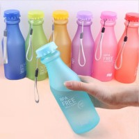 Candy Colors Unbreakable Frosted Plastic 20 oz BPA Free Portable Water Bottle Amazon Best seller, 50% cheaper freeship 14 days