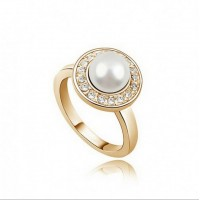 selling high-end jewelry simulated pearl jewelry rings - love life, 1281-33 (4 colors into) Free ship 20-39 days